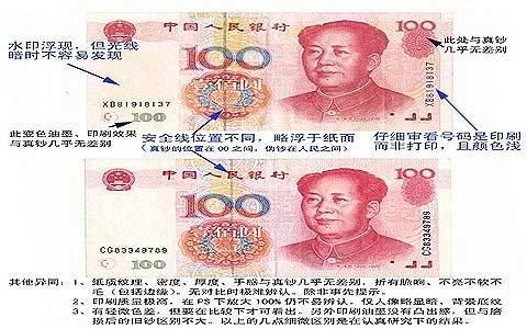 如何辨别人民币的真伪